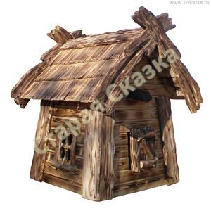Деревянный домик домовёнка для сада