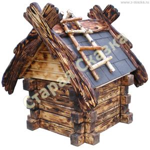 Деревянные домик-сруб для сада