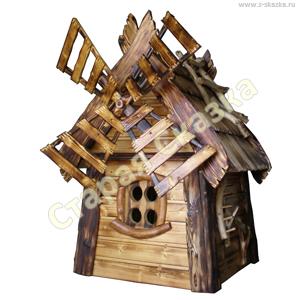 Деревянная мельница «Дрёма» для сада