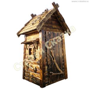 Деревянный туалетный домик «Нужда-1»