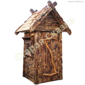 Декоративный туалетный домик «Нужда-2» для сада
