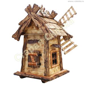 Деревянные домики и мельницы для сада «Кузя-2»