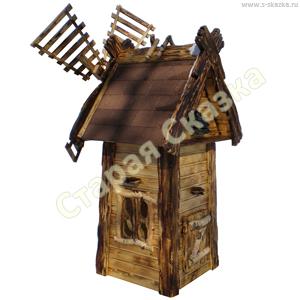 Деревянные домики и мельницы для сада «Морозко»