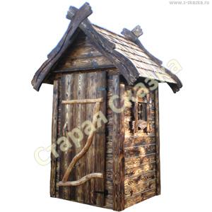 Деревянный туалетный домик «Нужда-4»