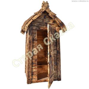 Деревянный туалетный домик «Нужда» для сада