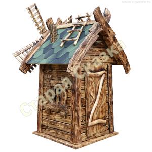 Деревянный домик-мельница «Кудесница»