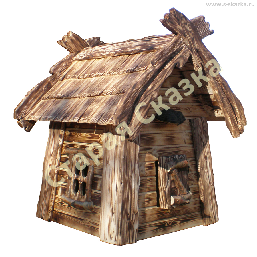 Домик декоративный из дерева