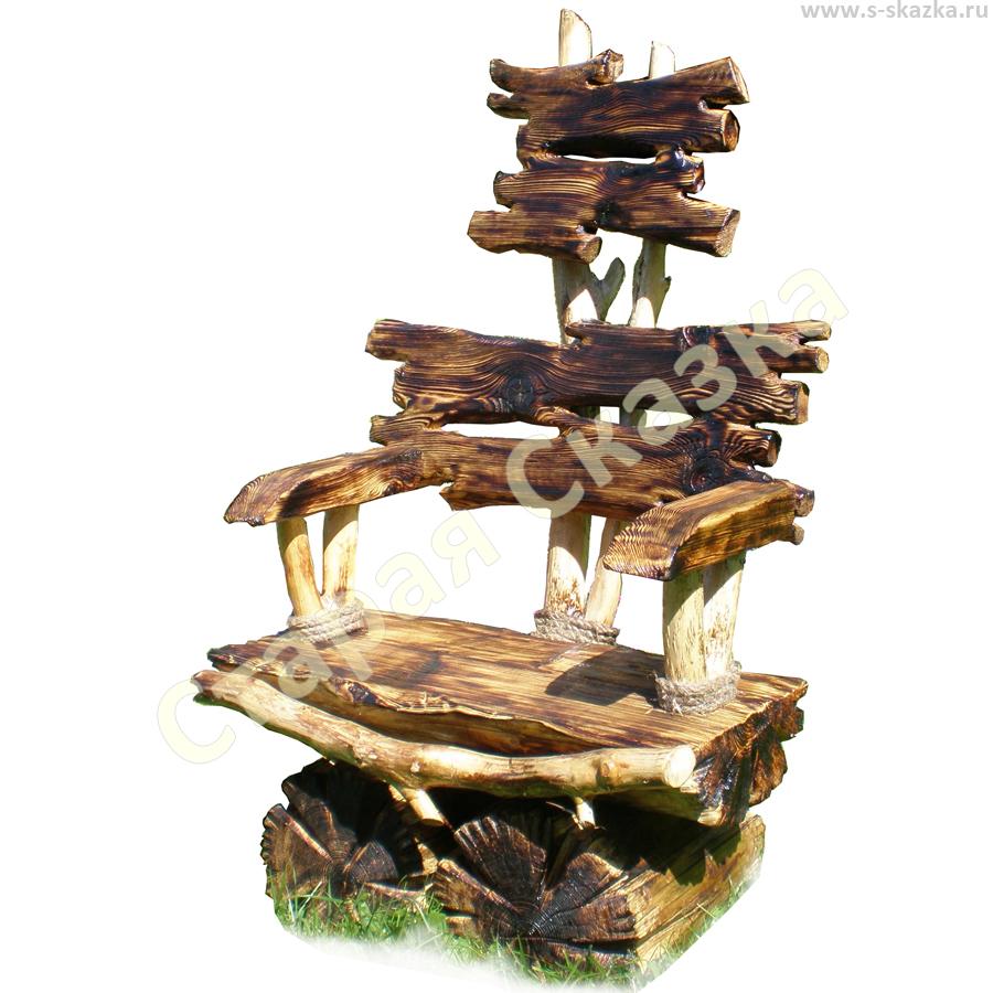 Деревянный стул с подлокотниками 21