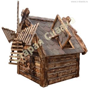 Декоративный деревянный домик для сада своими руками